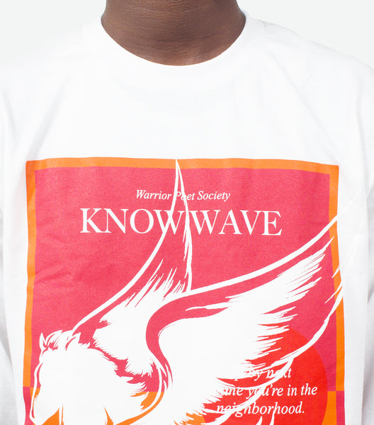 KNOW WAVE | KNOW WAVE WARRIOR POET SOCIETY LONGSLEEVE T-SHIRT WHITE | SOMEWHERE®
