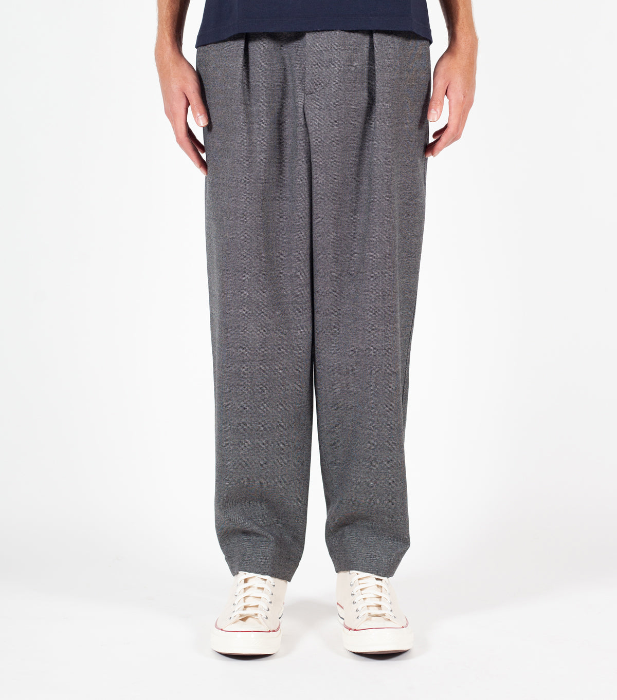 MARNI ELASTIC WAIST LOOSE TROUSERS GREY