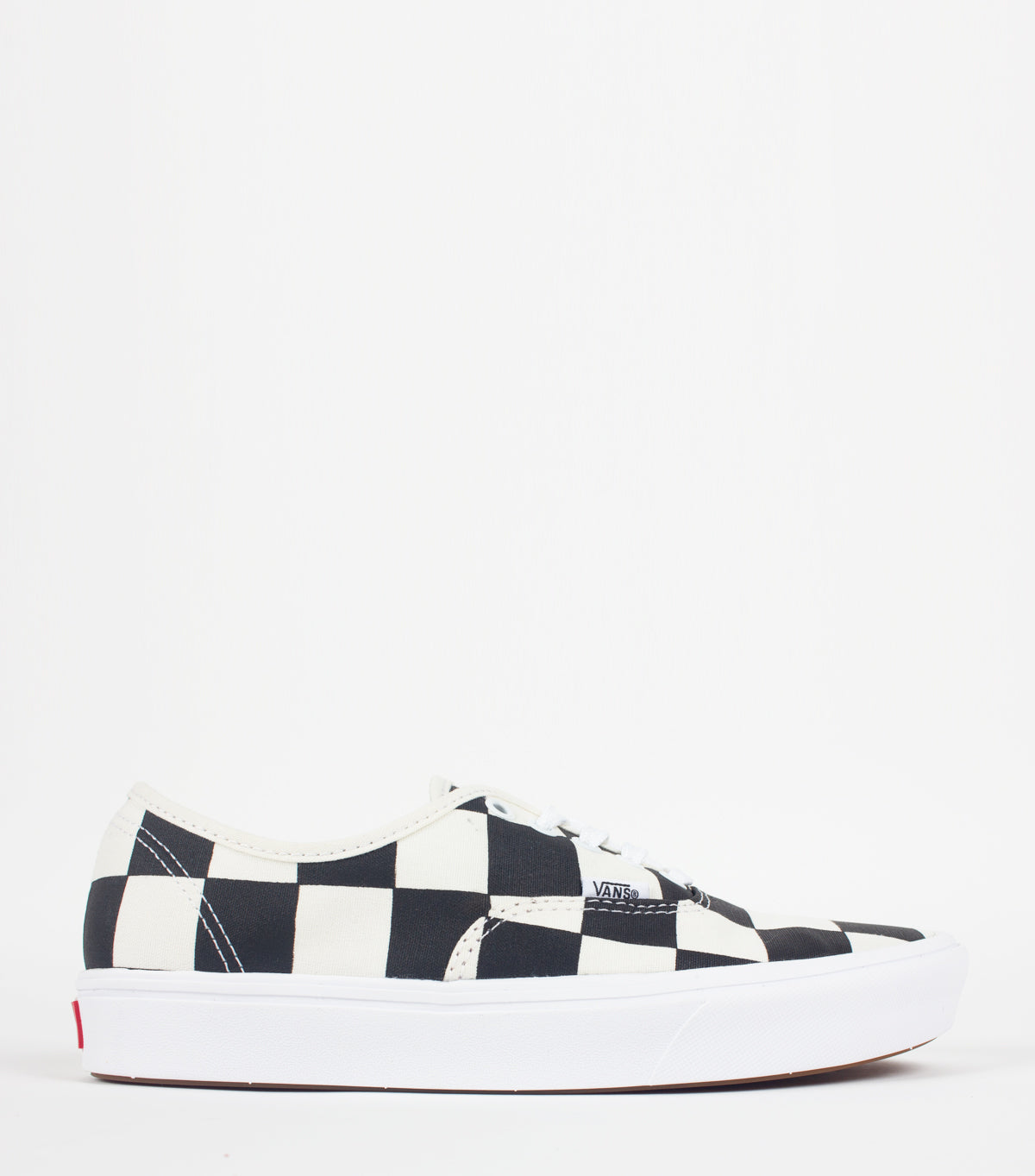 Vans Comfycush Half Big Checker Authentic Black Red | somewhereofficial.