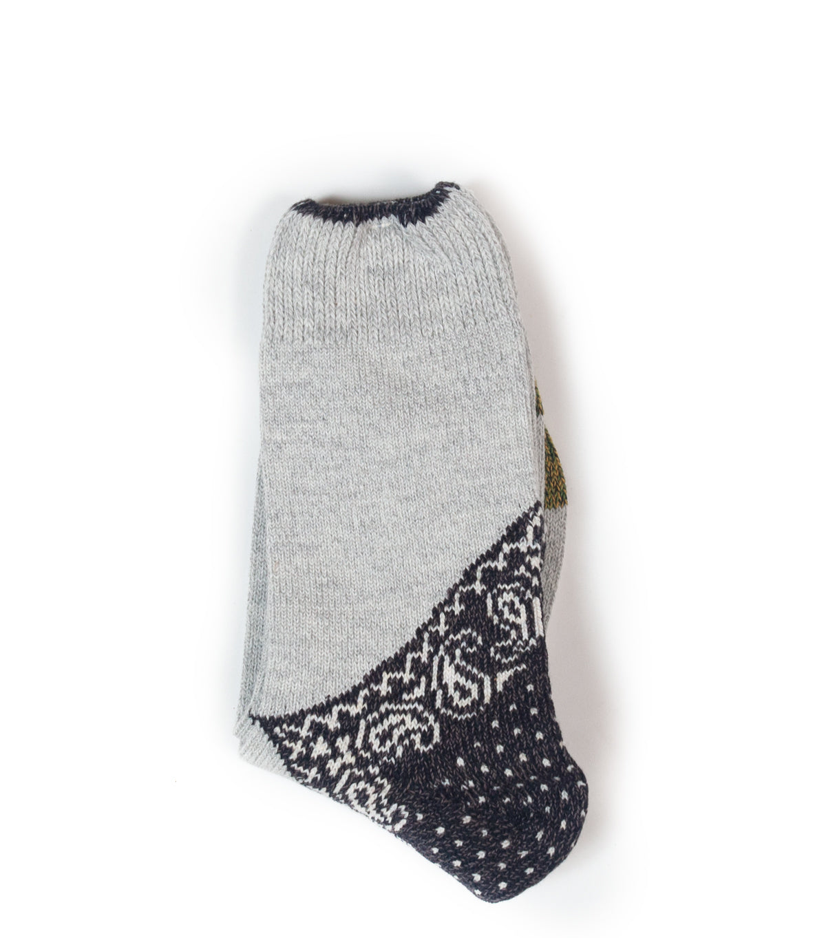 KAPITAL 72 YARNS WOOL IVY SMILIE SOCKS NAVY