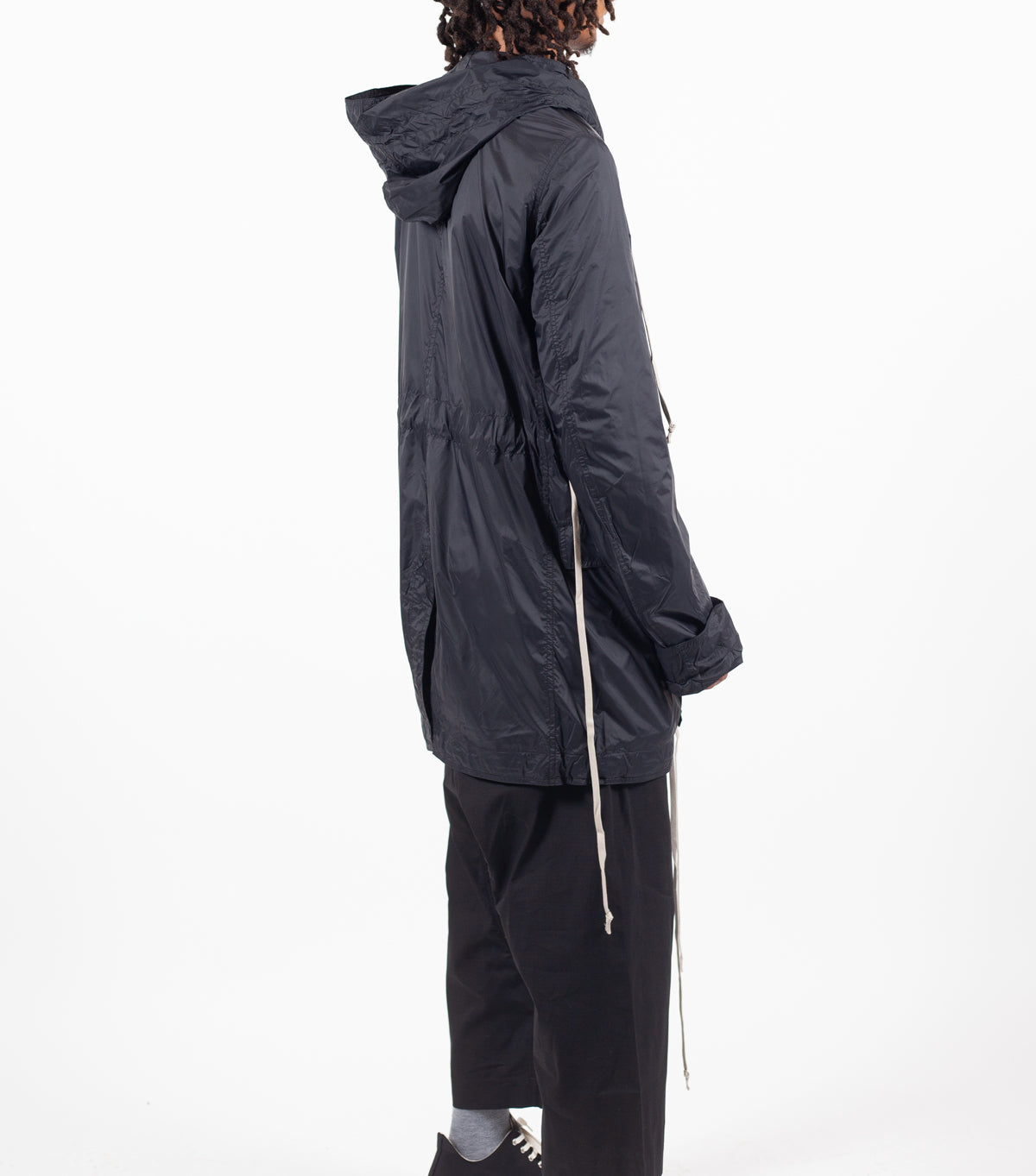RICK OWENS DRKSHDW | RICK OWENS DRKSHDW SHORT FISHTAIL PARKA BLACK | SOMEWHERE®