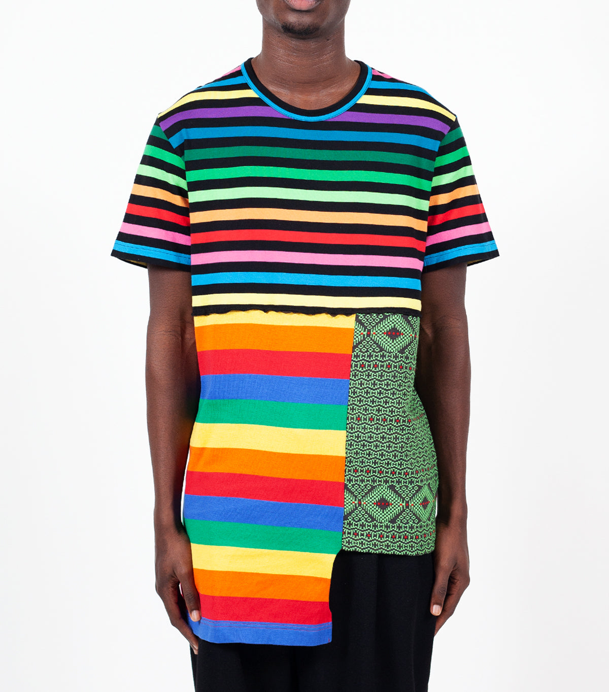 CdG Homme Plus Patchwork T-Shirt Multi Color