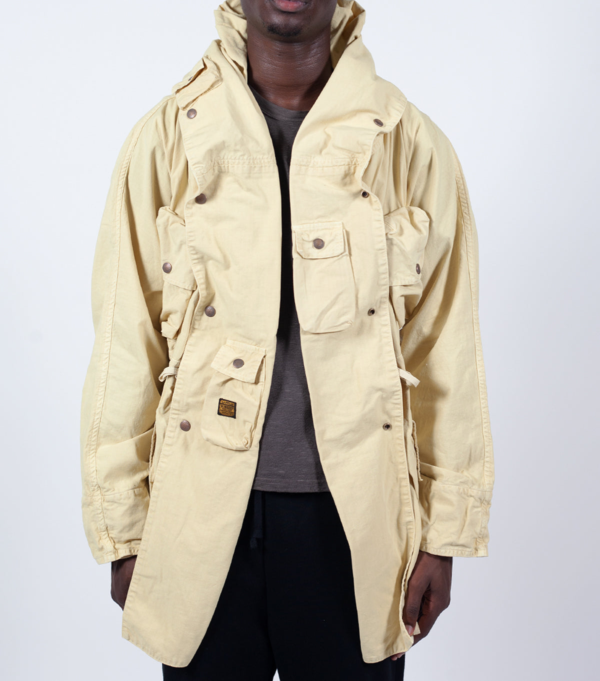 Kapital Alpine Ringcoat Khaki | somewhereofficial.