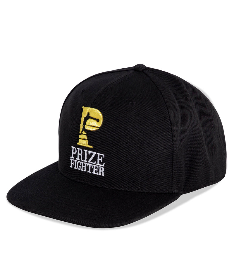 6 Panel gold logo snapback hat - Prize Fighter Australia