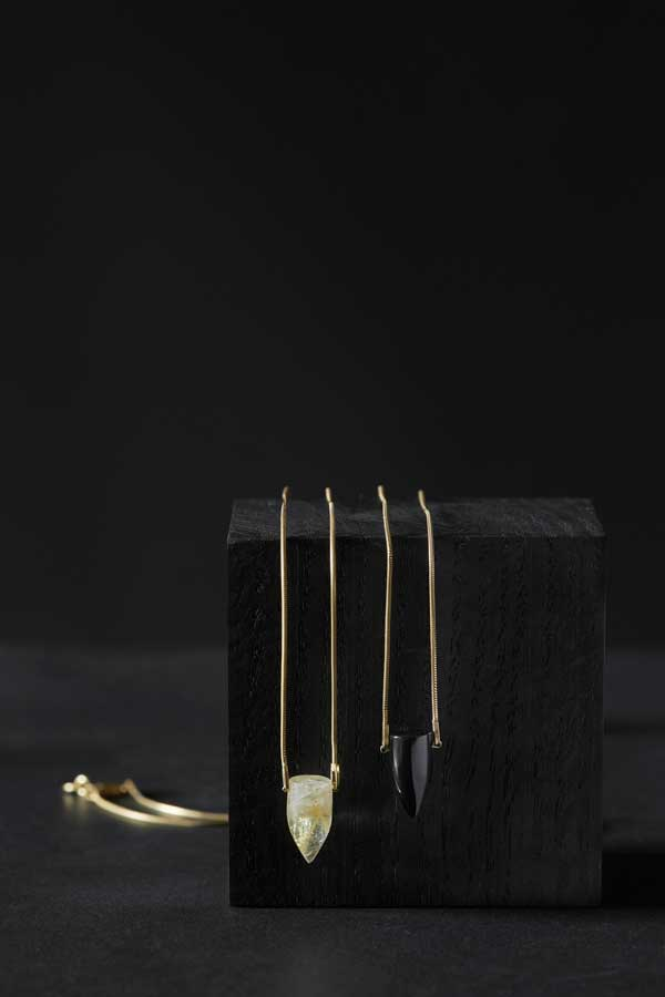 STUDIO LOMA - BULLET necklace Golden rutile