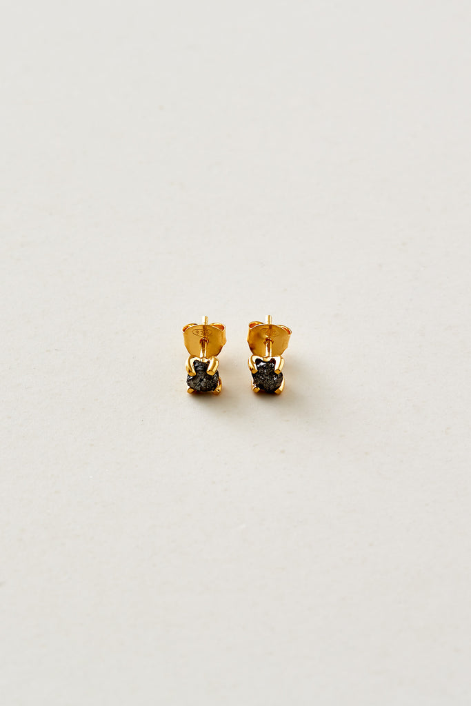 STUDIO LOMA - FAYE earring, black raw diamond