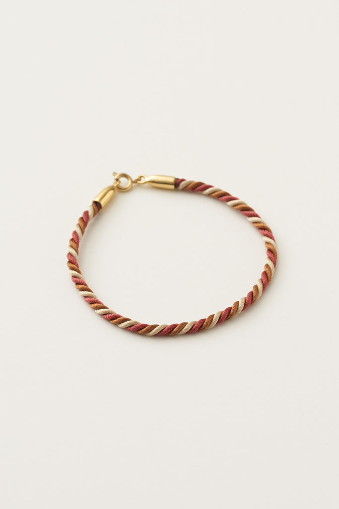 STUDIO LOMA - MAYA twisted bracelet, terracotta
