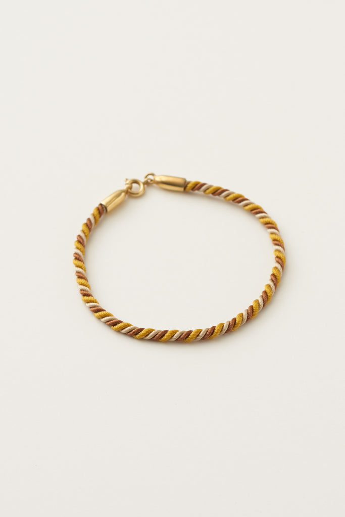 STUDIO LOMA - MAYA twisted bracelet, yellow