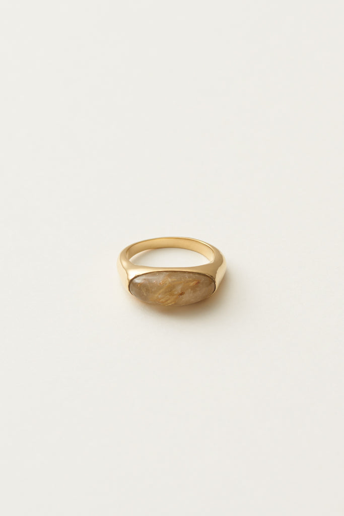 STUDIO LOMA - AGNES ring Golden rutile