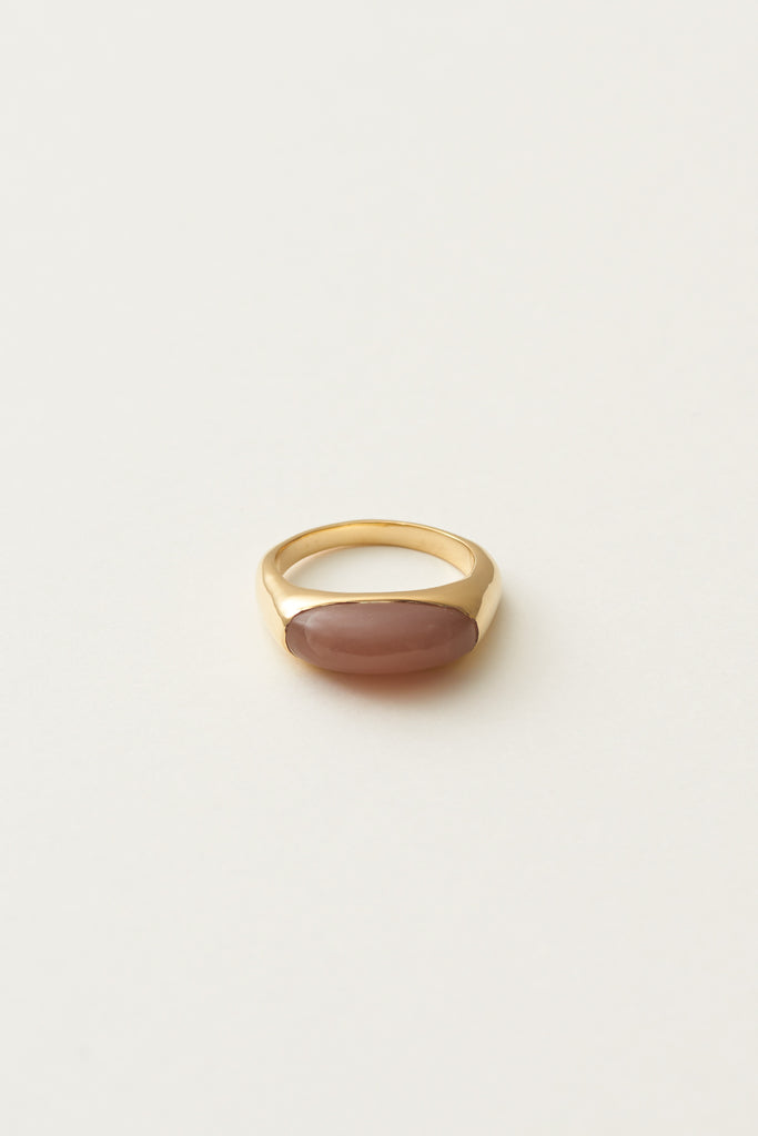 STUDIO LOMA - AGNES ring, Peach Moonstone
