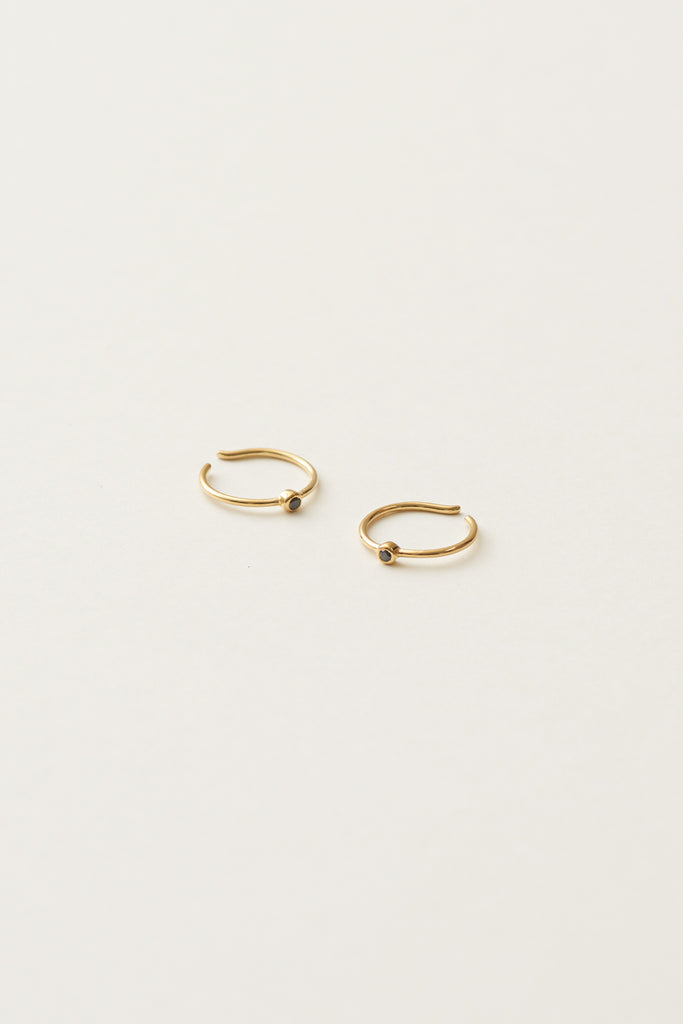 STUDIO LOMA - EDITH earring, gold with black diamond