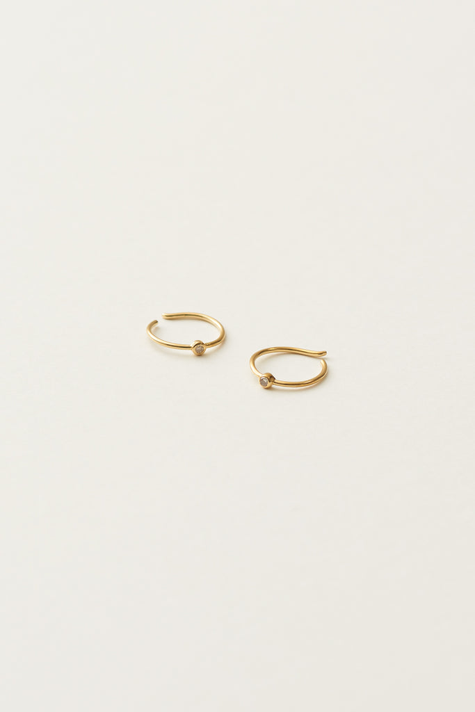 STUDIO LOMA - EDITH earring, gold and white diamond