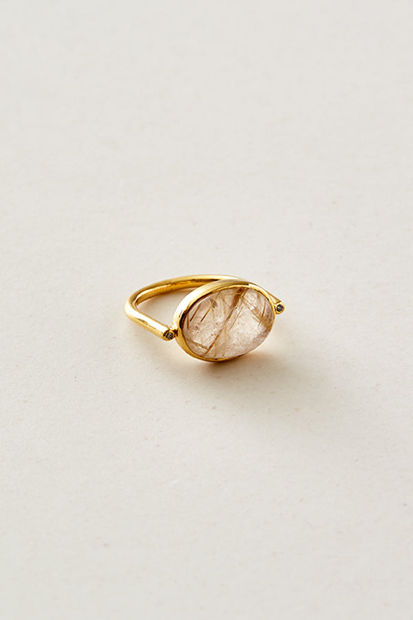 STUDIO LOMA - ADELE ring Golden rutile