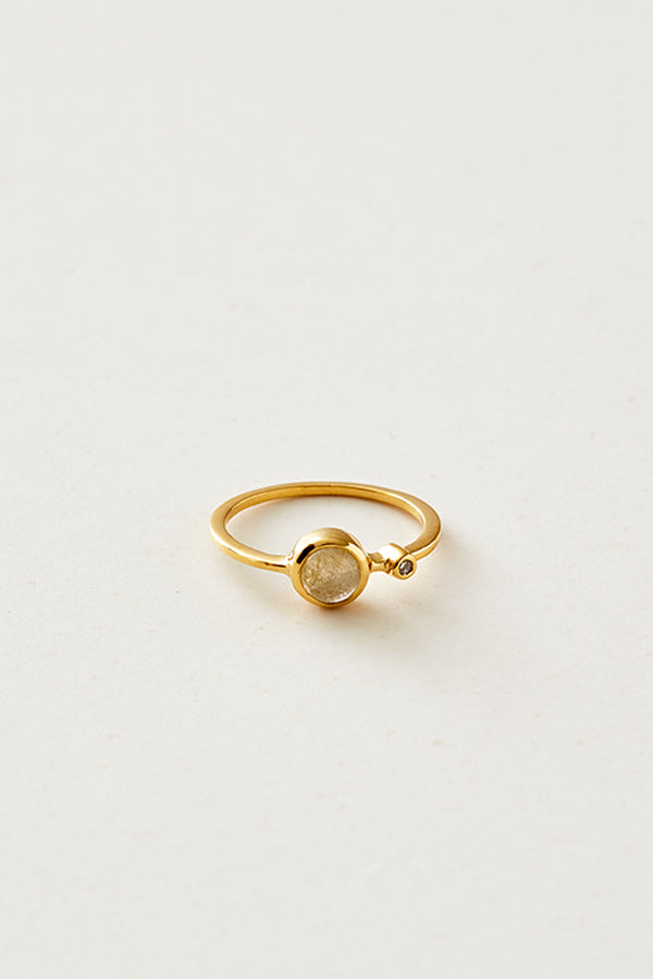 STUDIO LOMA - AMELIA ring with golden rutile quartz