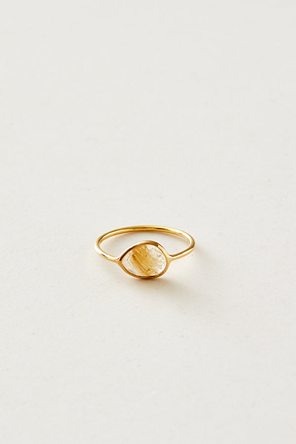 STUDIO LOMA - AMY ring Golden rutile