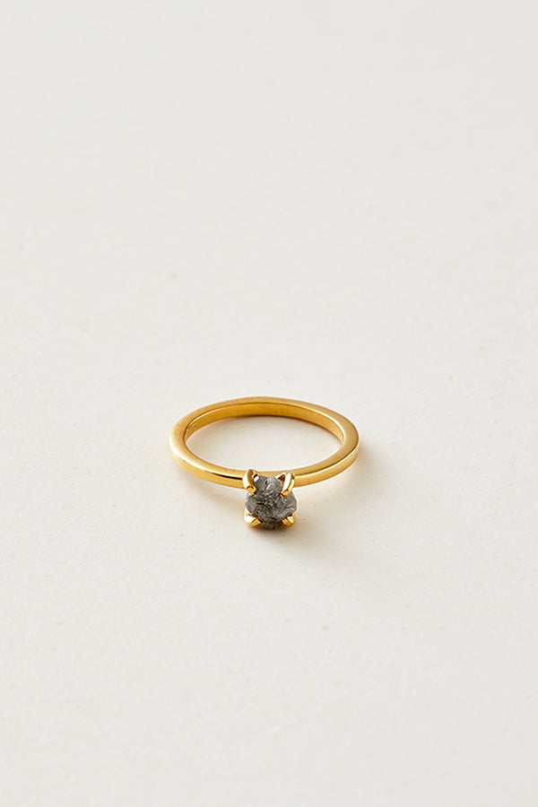 STUDIO LOMA, ANNEBELLE, grey raw diamond ring