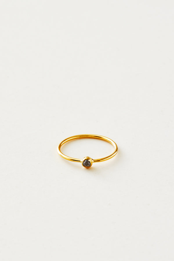 STUDIO LOMA - AVA, grey raw diamond ring