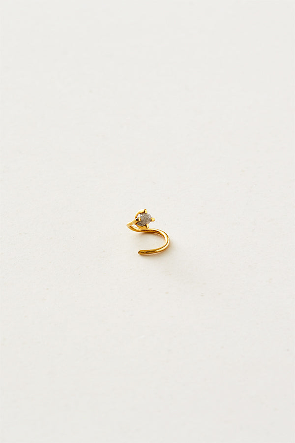 STUDIO LOMA - EMMA earring with raw diamond