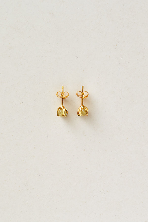 STUDIO LOMA - FAYE earring, champagne raw diamond