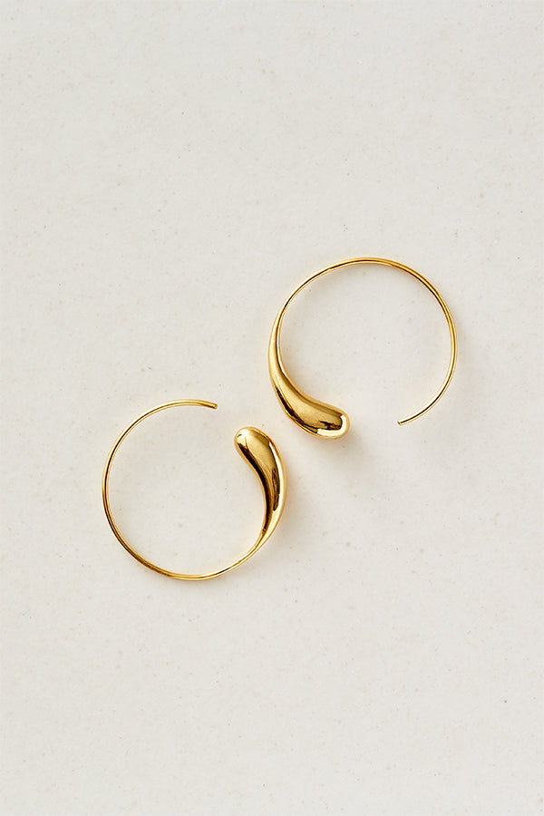 STUDIO LOMA - FLORA hoops, large, gold