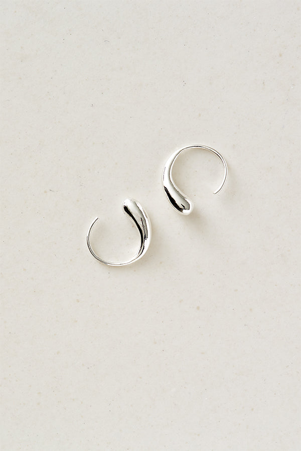 STUDIO LOMA - FLORA hoops small silver
