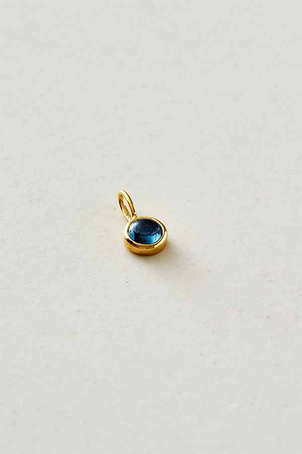 STUDIO LOMA - THELMA pendant London blue topaz