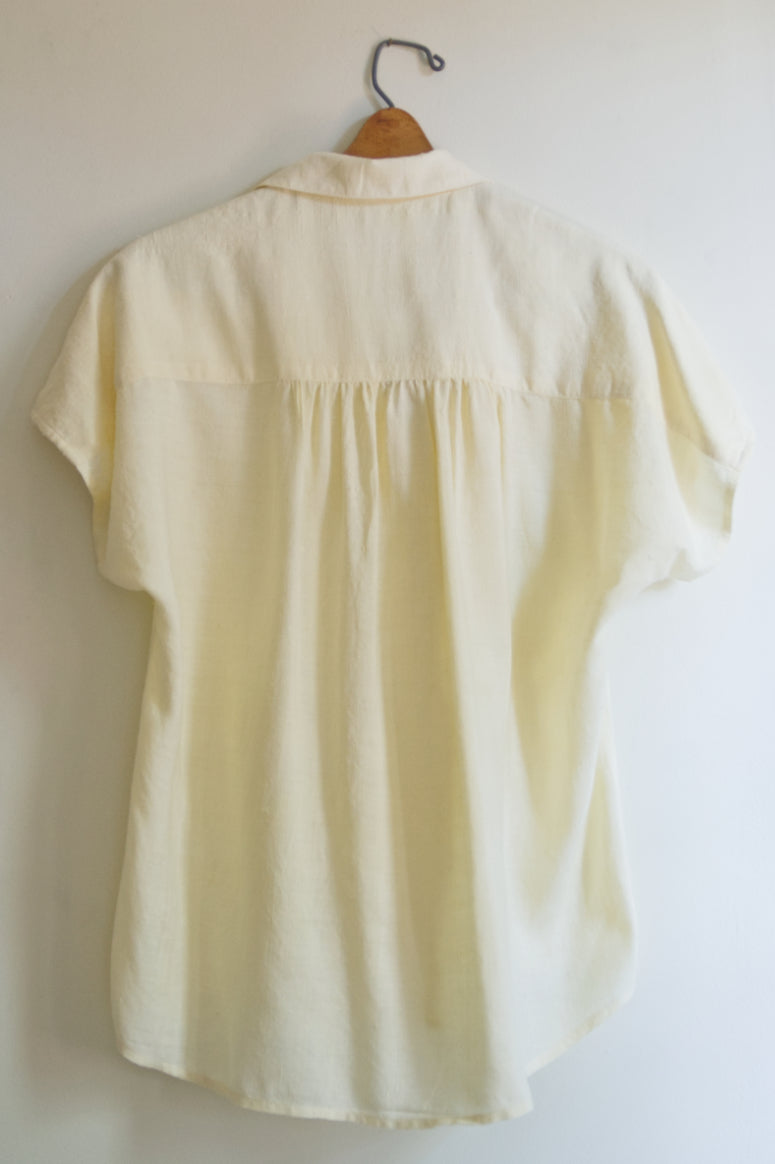 Silk Drop Shoulder Shirt Cream - SAMPLE SALE