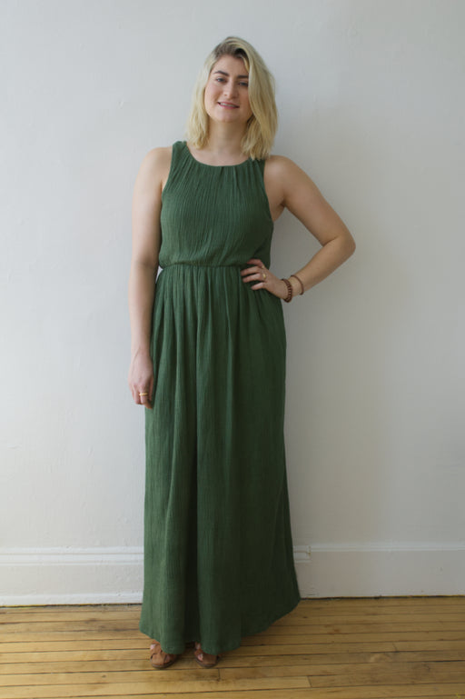 Cotton Crepe Any Length Dress Chive