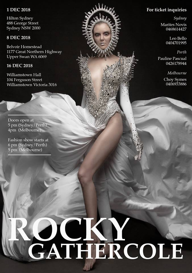 Lavish. Exquisite. Groundbreaking.  We won't run out of vocabulary to describe what's about to happen in 'Rock the Runway' show by Rocky Gathercole in Australia.