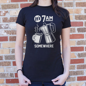IT'S 7 A.M. SOMEWHERE T-SHIRT - Radiant
