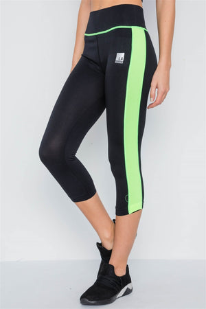 Contrast Stripe Active Sporty Leggings - Radiant