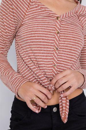 Cotton Front Tie Crop Top - Radiant