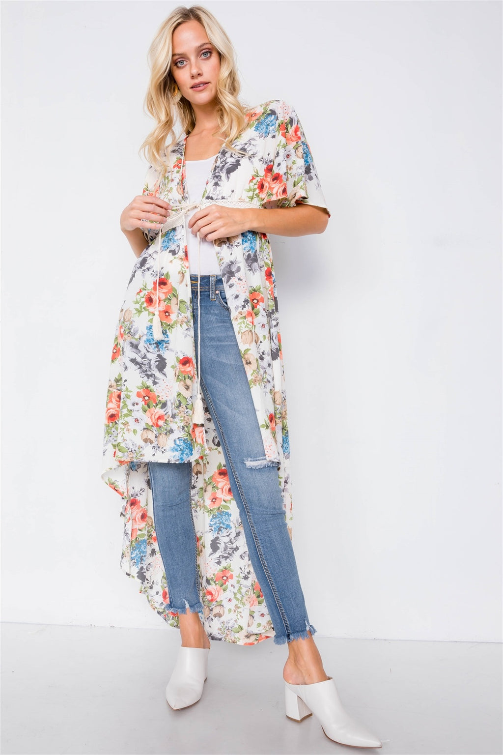 FLORAL KIMONO COVER-UP - Radiant