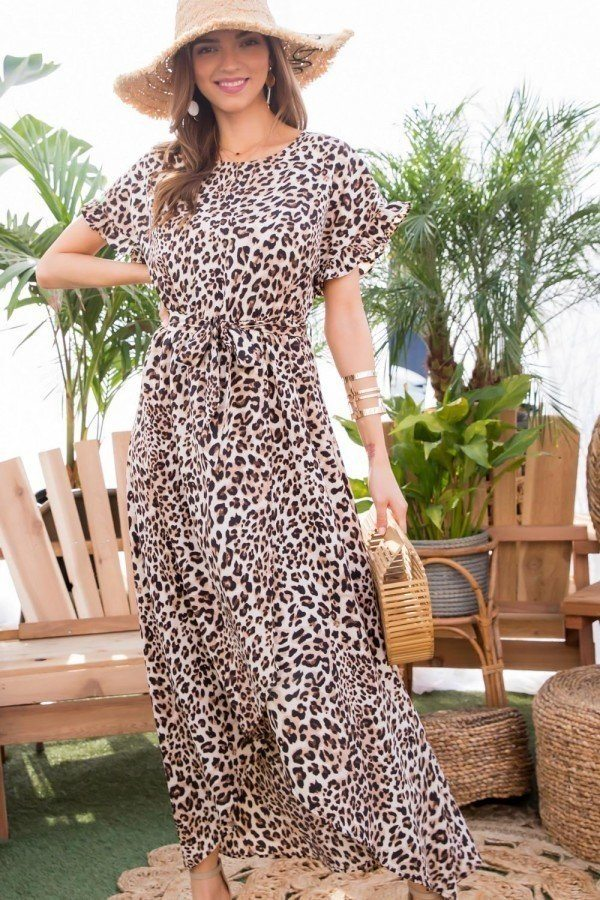 Sale -  LEOPARD MAXI DRESS