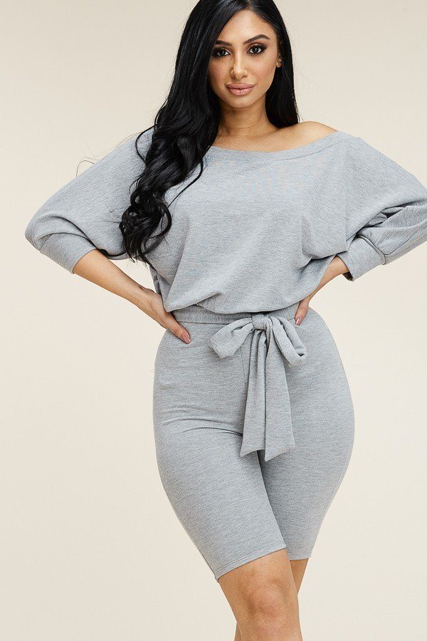 SLOUCHY FRENCH TERRY ROMPER