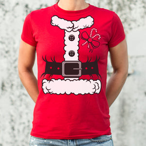 Santa Costume T-Shirt (Ladies) - Radiant