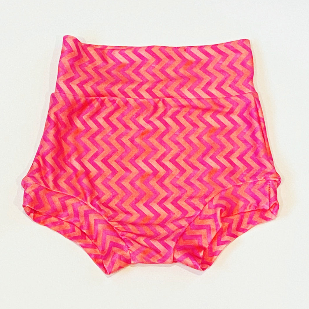 Pink Peach Chevron Pattern Bummies