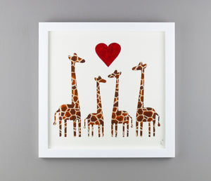 Family of Four Giraffes