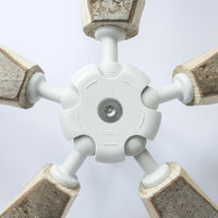 Close-up of a 5-way hub