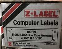 Z-Label Data Processing Labels for Pin-Fed Dot Matrix Printers - 5000 Labels