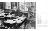 Gore Vidal at his office desk
