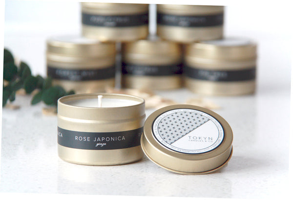 Gold Travel Tin - GINZA Rose Japonica