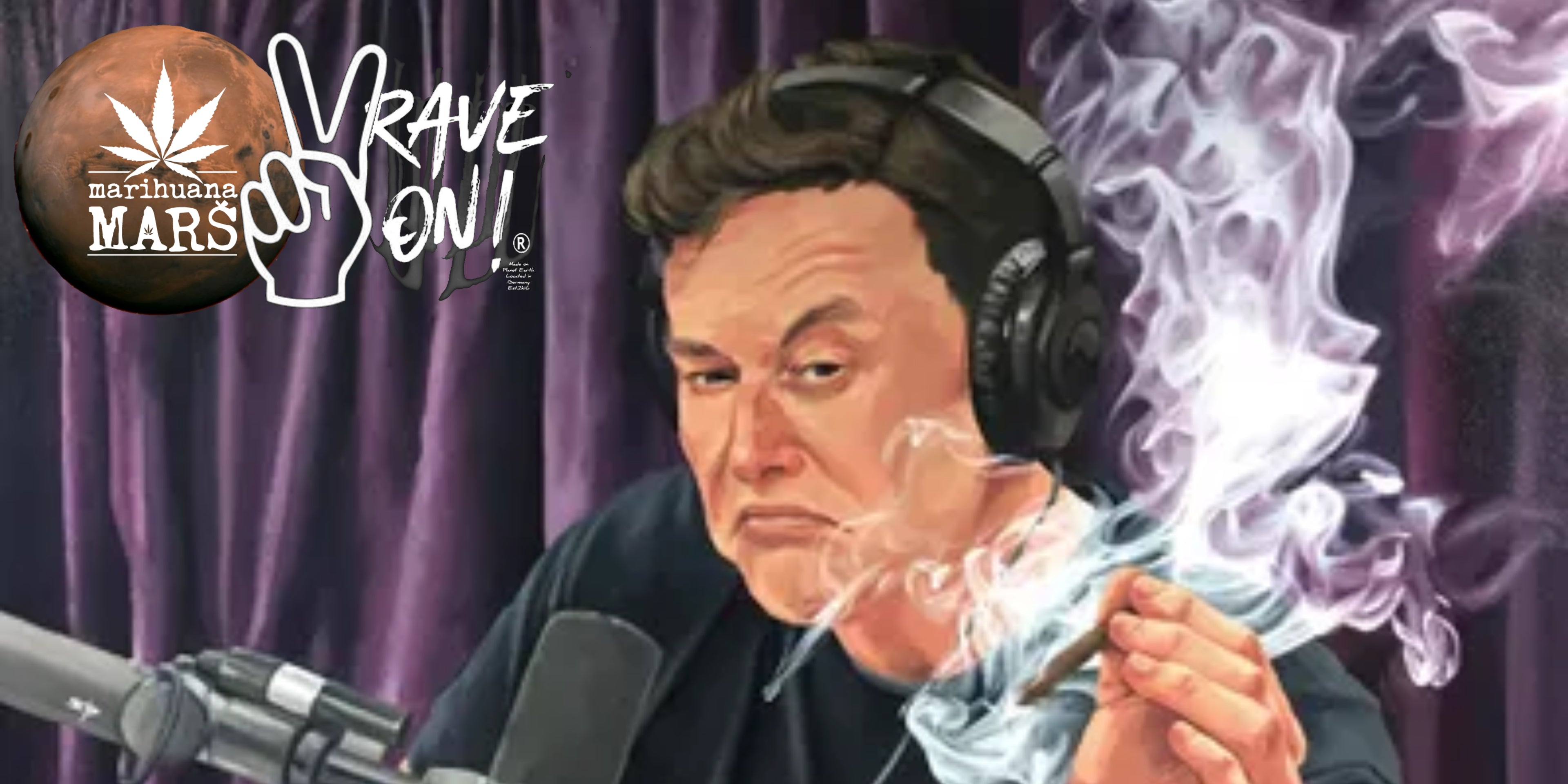 Elon Musk and Mars Weed from Rave On!®