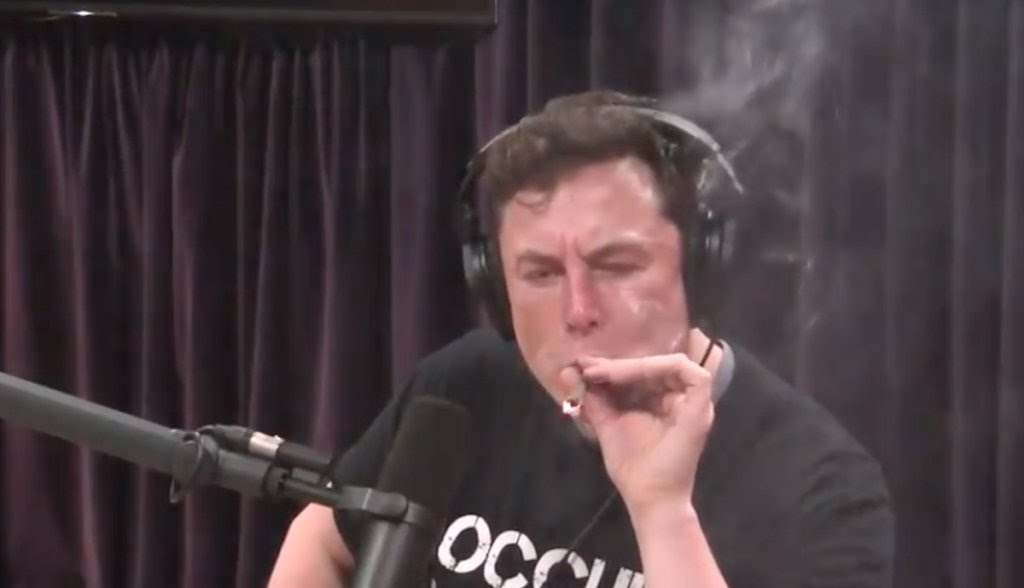 Elon Musk smoke a Joint in Public - www.rave-on.shop