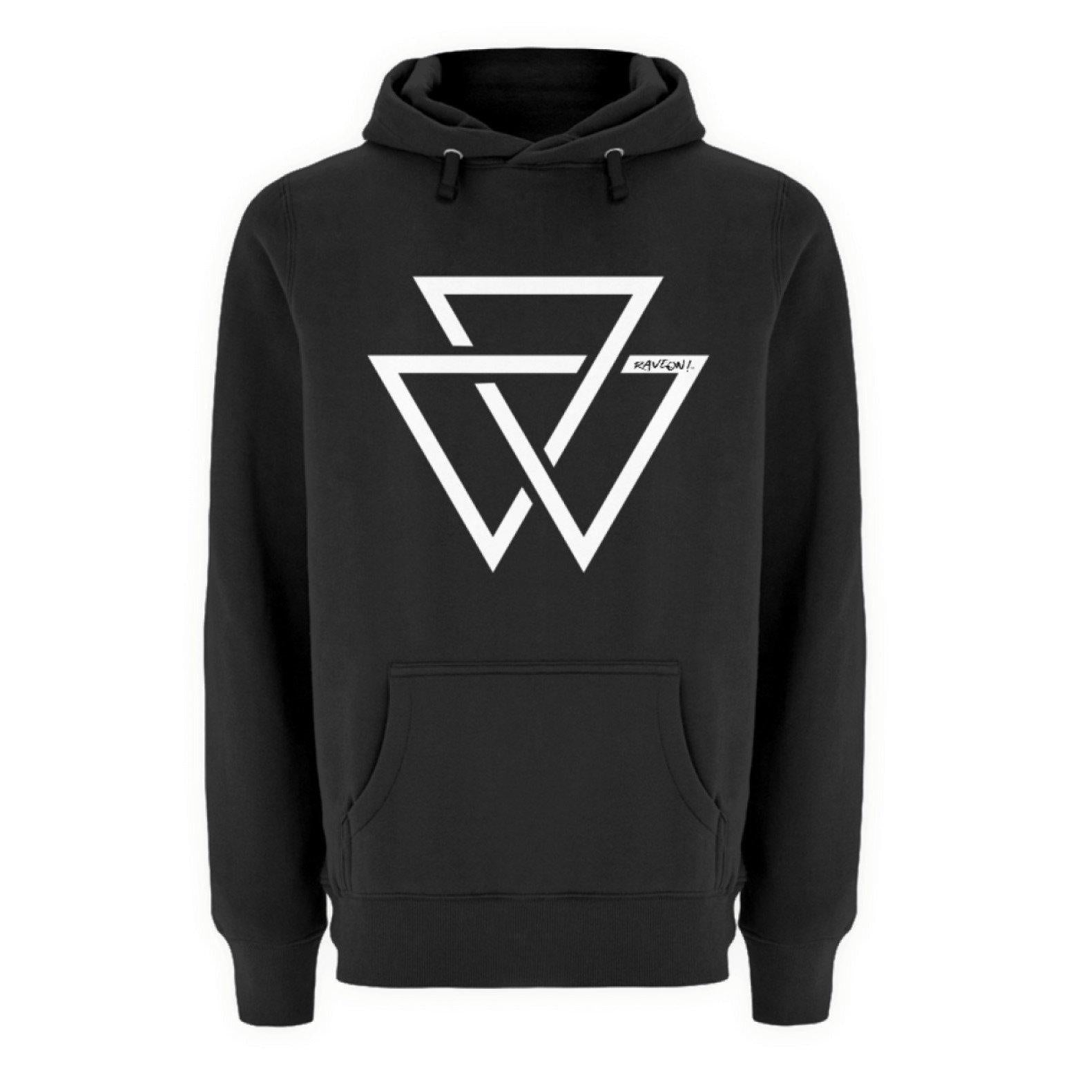TRIANGLE RAVE ON!® - Unisex Premium Kapuzenpullover Unisex Premium Hoodie Black / S - Rave On!® der Club & Techno Szene Shop für Coole Junge Mode Streetwear Style & Fashion Outfits + Sexy Festival 420 Stuff