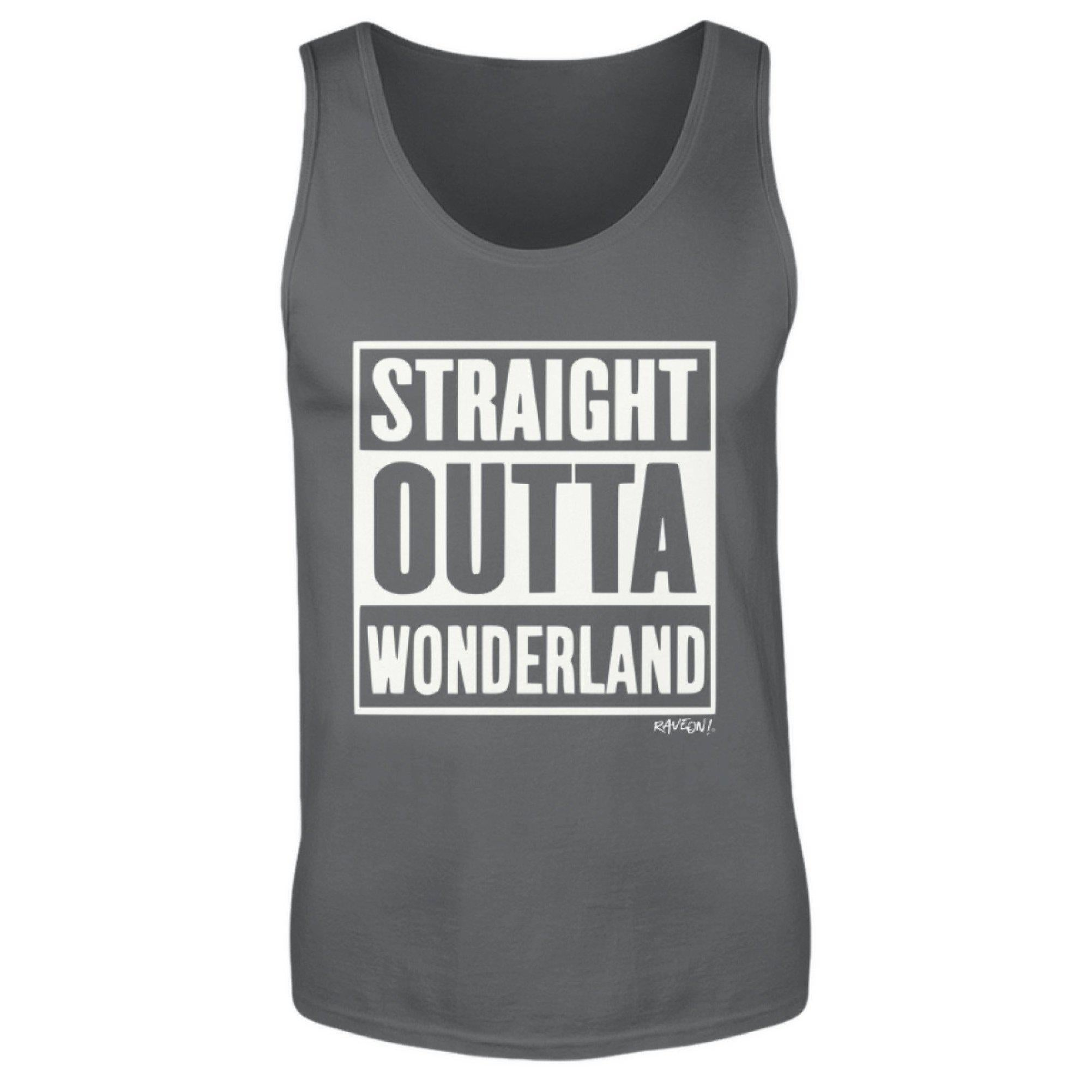 STRAIGHT OUTTA WONDERLAND - Rave On!® - Herren Tanktop Herren Tank-Top - Rave On!® der Club & Techno Szene Shop für Coole Junge Mode Streetwear Style & Fashion Outfits + Sexy Festival 420 Stuff