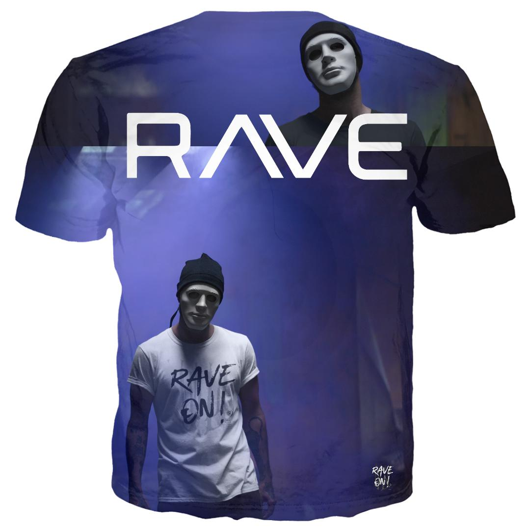 RAVE - MASCERADE All-Over-Print360 T-Shirts - Rave On!® der Club & Techno Szene Shop für Coole Junge Mode Streetwear Style & Fashion Outfits + Sexy Festival 420 Stuff