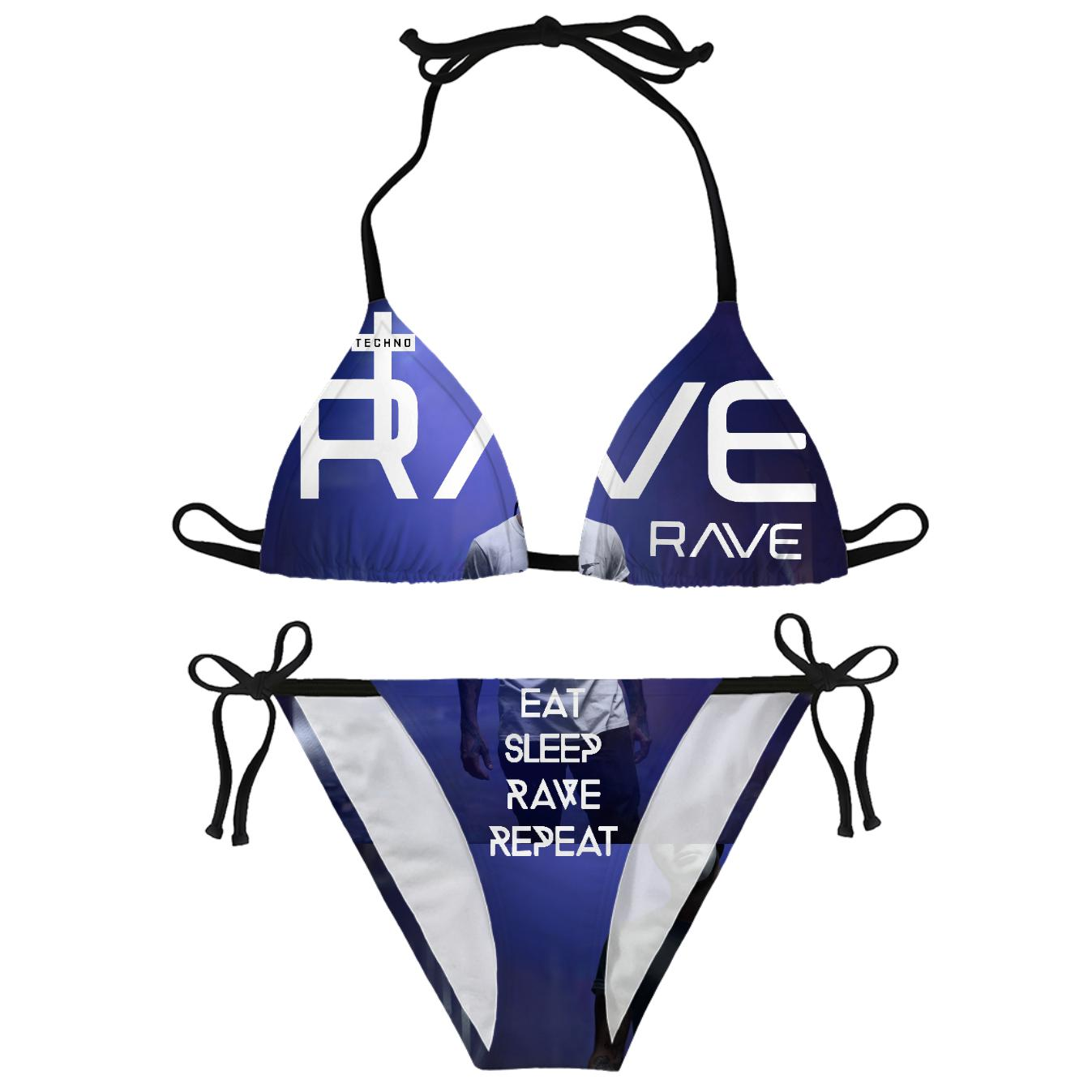 RAVE REPAT Yoda Rave On!® All-Over-360Print Bikinis Small - Rave On!® der Club & Techno Szene Shop für Coole Junge Mode Streetwear Style & Fashion Outfits + Sexy Festival 420 Stuff
