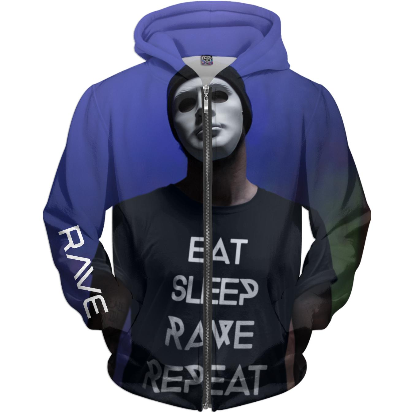 RAVE REPEAT Yoda - Rave On!® All-Over-360Print Hoodies X-Small - Rave On!® der Club & Techno Szene Shop für Coole Junge Mode Streetwear Style & Fashion Outfits + Sexy Festival 420 Stuff