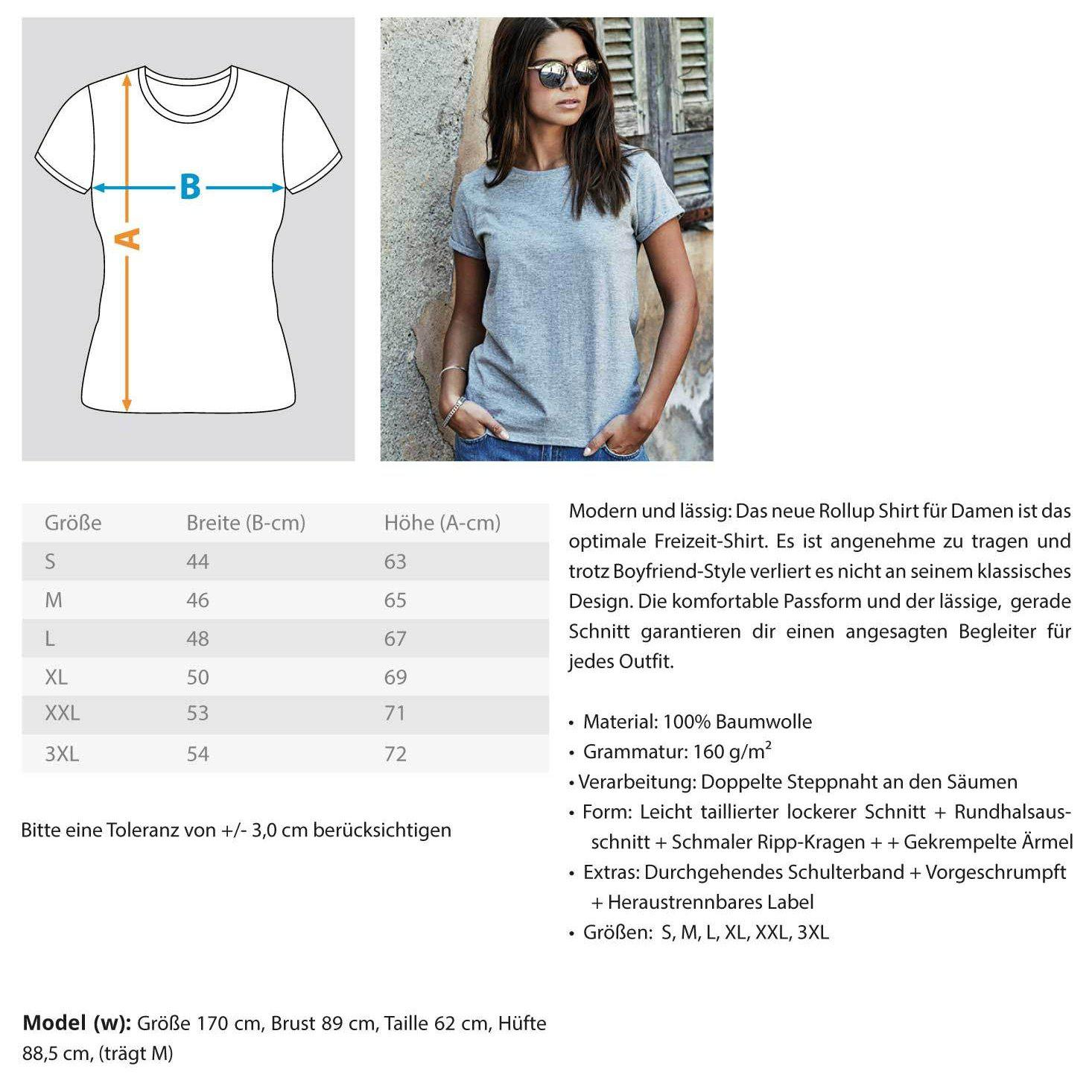 Made with TECHNO - Rave On!® - Damen RollUp Shirt Women Rollup Shirt - Rave On!® der Club & Techno Szene Shop für Coole Junge Mode Streetwear Style & Fashion Outfits + Sexy Festival 420 Stuff
